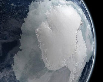 Antarctica from Space -Photo Print