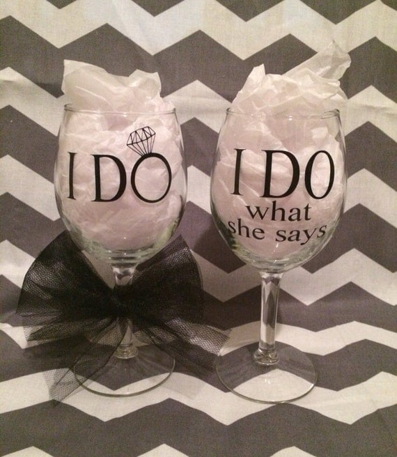 Our wedding pinspiration from pinterest this week estilo moda - Funny wine glasses uk ...