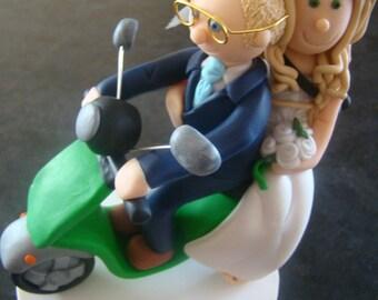 DEPOSIT for a Customised Wedding Cake Topper Scooter Bike Bride&Groom Figurine Sculpture