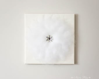 Flower Art, White Flower, Ivory, Wedding Decoration, White Nursery, Flower Wall Art, Nursery Decor, Nursery Wall Decor