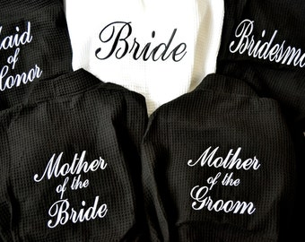 Personalized Bridesmaids Gifts Bridesmaid Robes Bride Robe Monogrammed Robe Waffle Robe Kimono Spa Robe Personalized Bridesmaids Gift
