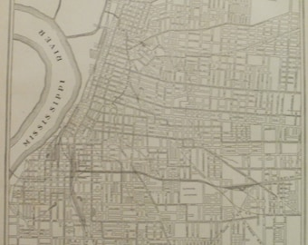 Vintage map of memphis Etsy