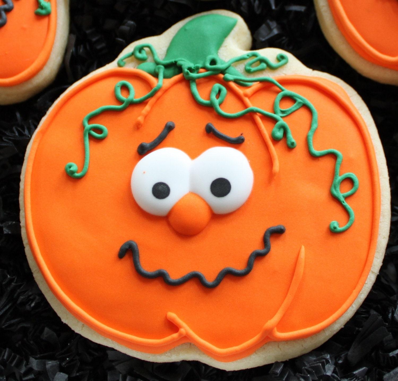 Decorated Pumpkin Cookies Halloween pumpkins Halloween