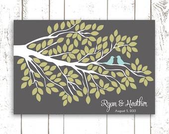 Wedding Guest Book Alternative for 125 Guests - Tree Branch Print for Modern Wedding Keepsake
