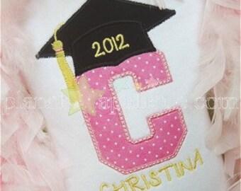 Personalized Graduation Shirt - Kids Embroidered Shirt - Graduation Tee - Monogram Grad Shirt - Kindergarten Graduate - Pre School Graduate