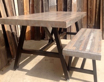 FLASH SALE ! 20% OFF! Custom Indoor/ Outdoor Reclaimed Wood indoor/ Outdoor Dining Table