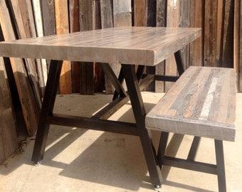 Custom Indoor/ Outdoor Reclaimed Wood indoor/ Outdoor Dining Table