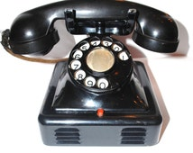 Old Phone Bakelite Black 1957