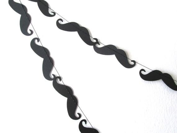 Paper Garland, Mustache Garland, Mustache Party Decorations, Mustache Baby Shower, Mustache Wedding, Mustache Bash, Mustache Party Decor