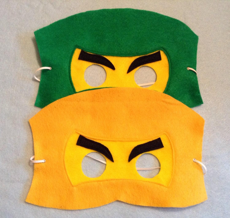 Ninjago Ninja Lego Mask Felt Set Of 18 By