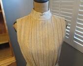Golden Goddess 1960's Lurex floor length cocktail dress, small/medium, Bomshell, Vixen, VLV