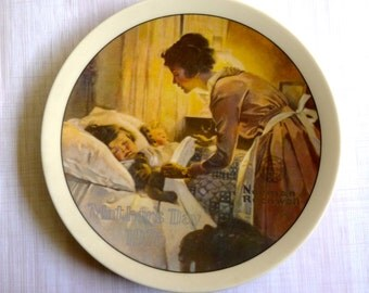 Vintage NORMAN ROCKWELL Mothers Day Edition 1976 Collectors Plate