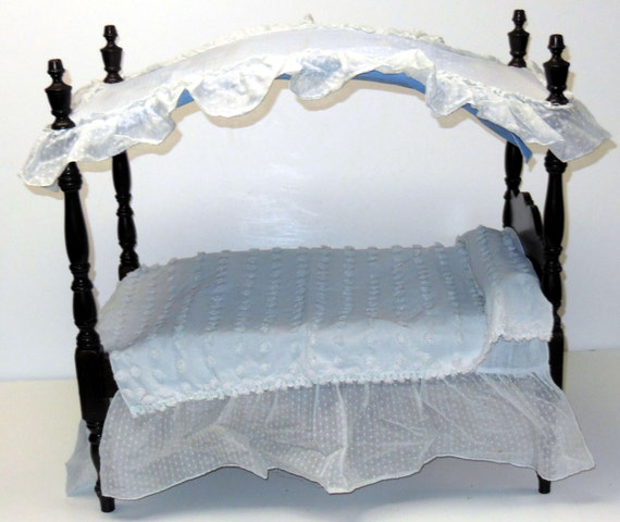 On Sale Vintage 1950s All Original Canopy Doll Bed