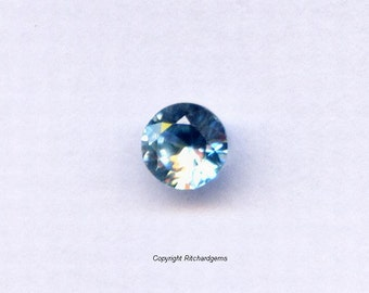 Natural 4 MM Blue Zircon Faceted Round Diamond Cut  For ONE