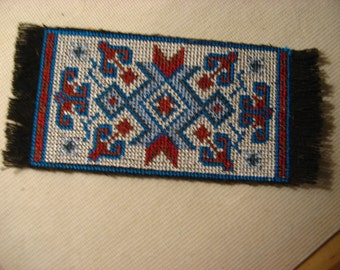 Southwestern styled miniature mini rug for your dollhouse