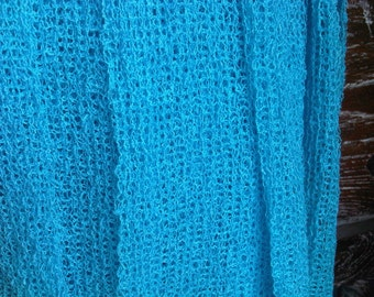 Turquoise Strecth wrap - newborn swaddle wrap - photo prop - baby posing blanket - basket stuffer - sling - hammock