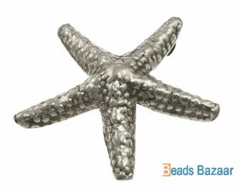 Karen Hill Tribe silver Starfish Charm, 57 mm