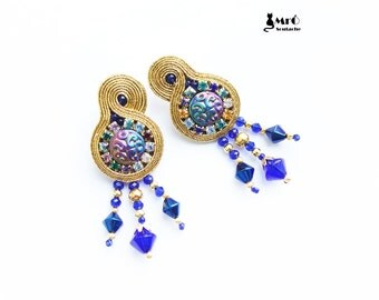Afrodyta- Soutache earrings ! Charming!