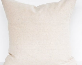 Natural Muslin Pillow Cover- 18x18, 16x16, 14x14 or 12x18