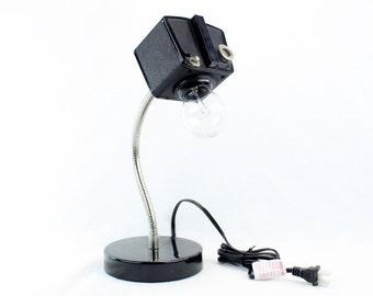 Gooseneck Desk Lamp  - Kodak Brownie Flash Six-20 Vintage Camera