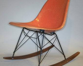 Eames Herman Miller Chair ROCKER BASE Black frame walnut wood for widemount