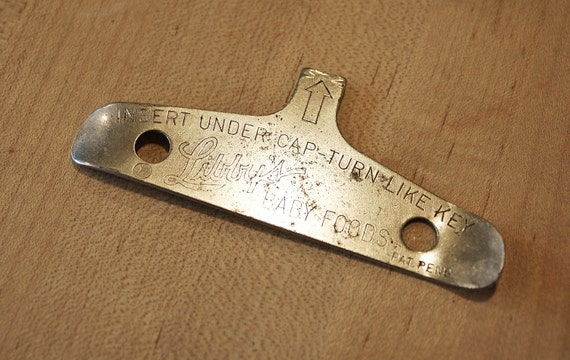 Vintage Libby S Baby Foods Metal Key Opener Vintage
