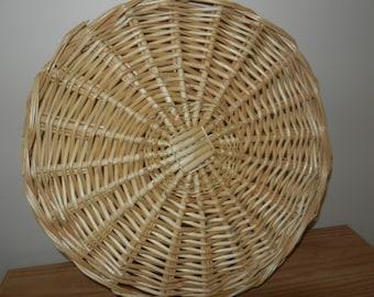 Tray - Circular Tray - Sturdy Grass Tray - Woven Tray
