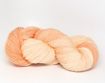 Peach Chiffon - Luxury Fingering Weight - Merino, Cashmere & Nylon - 100 g - 425 yds
