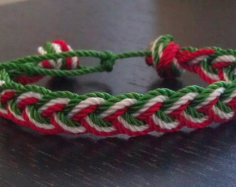 World Cup Inspired Friendship bracelet (Mexico)
