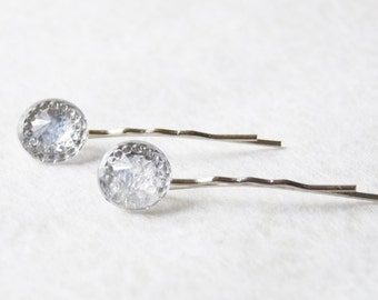 Sparkly Diamond Hair Pin Set // Bridal Hair Pins // Rhinestone Bobby Pins