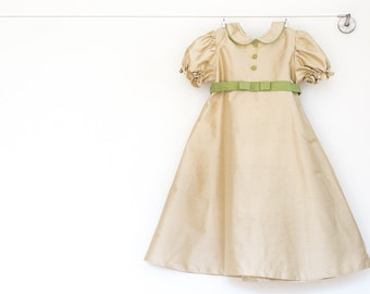 Girl Silk Dress,special occasion,couture clothing,recital girl dress,party dress girls,boutique clothing,3T, 4T, 5, 6, 7, 8, 10,and 12 sizes