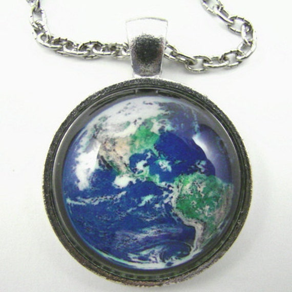 Earth Marble Necklace