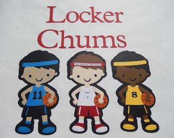 Basketball Locker Decorations.  Personalize your own Locker Chum