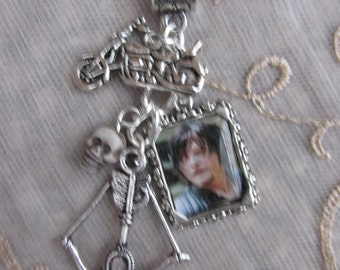 The Walking Dead Daryl Dixon Picture CharmsNecklace