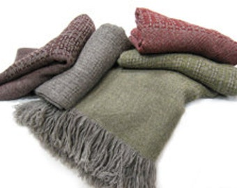 Wool Throw Blanket, Our Luxuriously Soft Box Throw, All Natural, No Synthetics