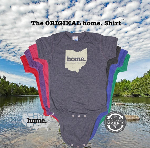 Ohio Home Baby Bodysuit Purple Green Pink Green