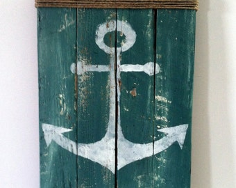 Pallet Anchor Sign Rustic Lake Decor Rustic Ocean Decor Summertime Pallet Sign