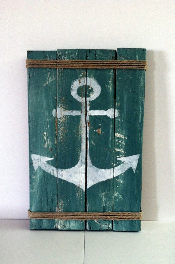 Pallet anchor sign rustic lake decor rustic ocean decor for Anchor decoration for the home