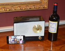 Vintage Bluetooth Navy Blue and White Westinghouse 1950's Tube Radio w Custom  Auto Paint / Stream Your Music and Apps