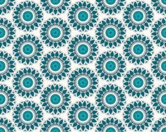 My Mind's Eye for Riley Blake, Indie Circle Blue Fabric 1 Yard