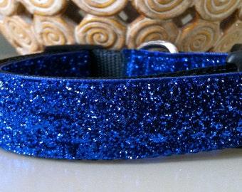 Dog Collar- Blue Glitter