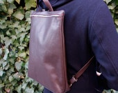 Leather backpack in Spanish Premium Leather, light and soft.