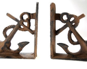 Heavy Cast Iron Anchor Bookends