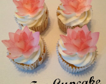 Edible Lotus Flower Cupcake Toppers