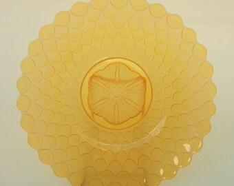 amber etched platter