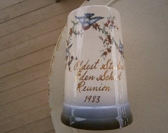 SALE!  Bluebird Vase Oldest Student Award Vintage Was 11.50  Now 9.00