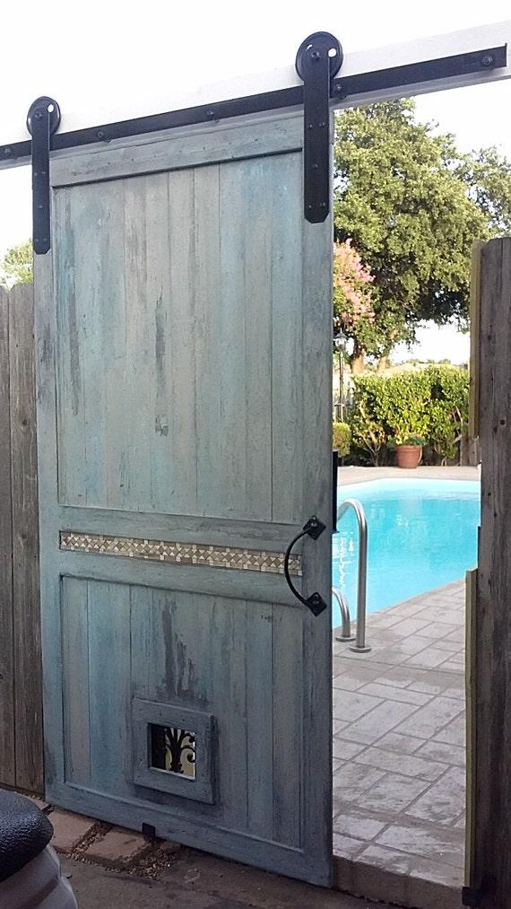 Pre drilled Modern Sliding Barn Door Track Kit