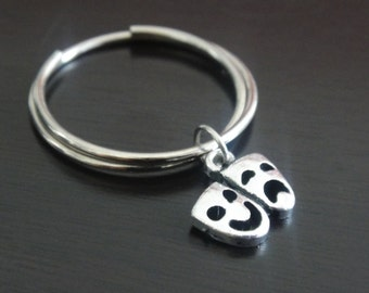Tragedy Mask Key Chain