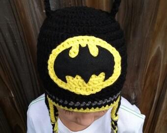 Baby Batman Hat Crochet Pattern Free : Handmade Crochet Batman Hat