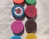 Authentic Casino Roulette Chips -assemblage, altered art, mixed media, craft project